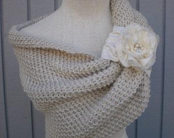 Wedding accessories, bridal accessories, bridal shawl, wedding shawl, knit shawl, bridesmaid gift, gift for her, wedding gown, handmade gift
