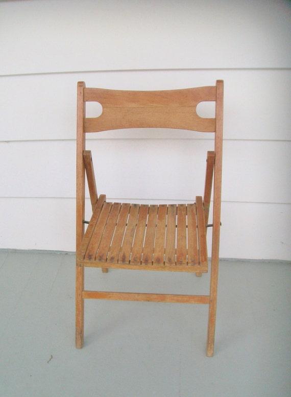 Terrific Vintage Childs Chair Wooden Slat Folding Desk Chair Camping Chair Travel Chair Uwap Interior Chair Design Uwaporg