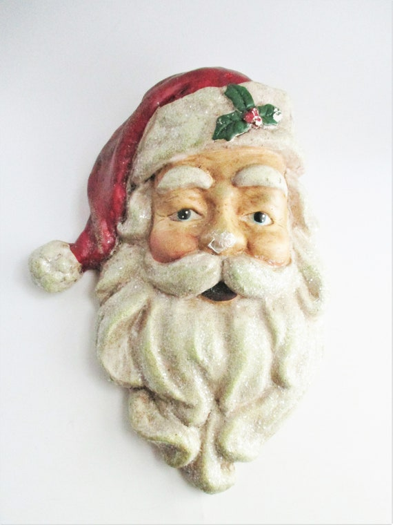 Vintage Paper Mache' Santa Claus Face/Head | 760x570