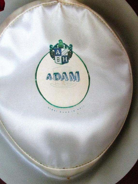 Vintage Hat by Adam Men's Pork Pie Fedora Steel G… - image 6