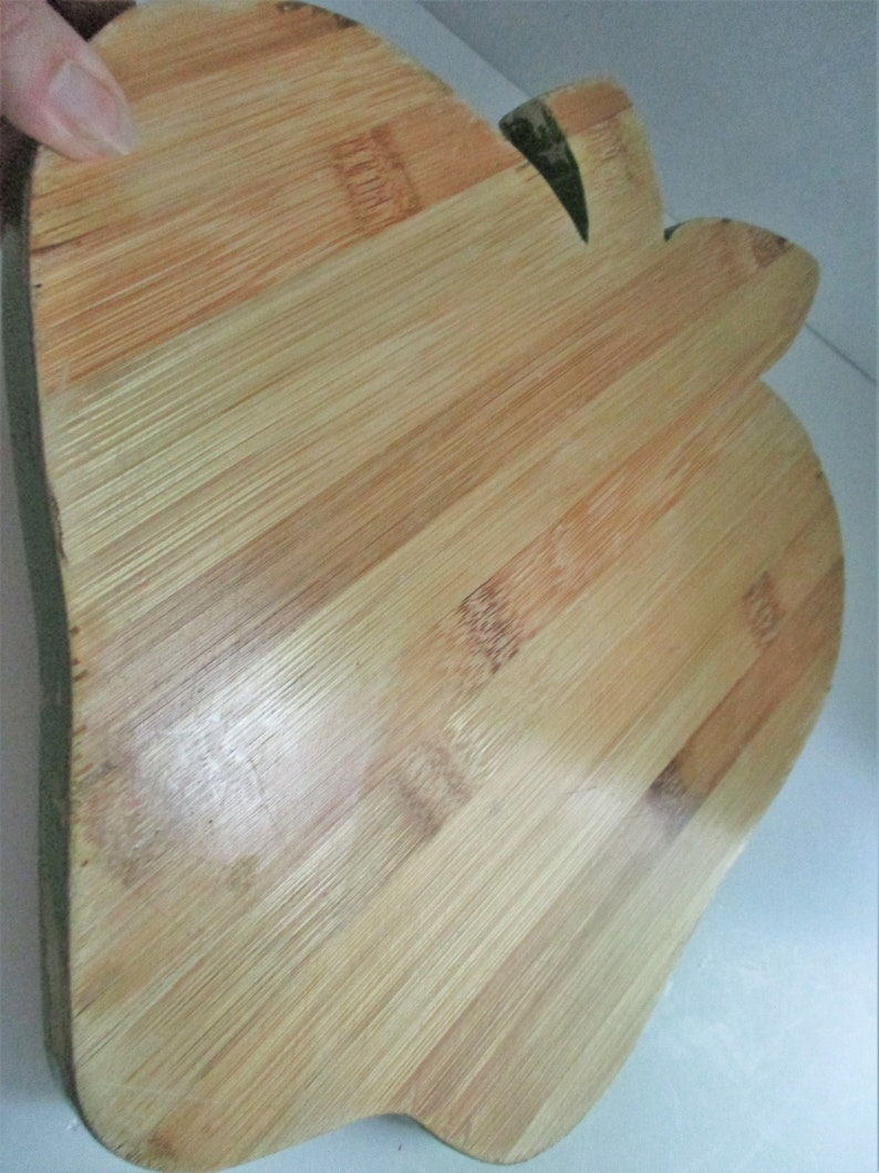 Vintage Cutting Board Apple Green Border Farmhouse Decor Kitchen Decor