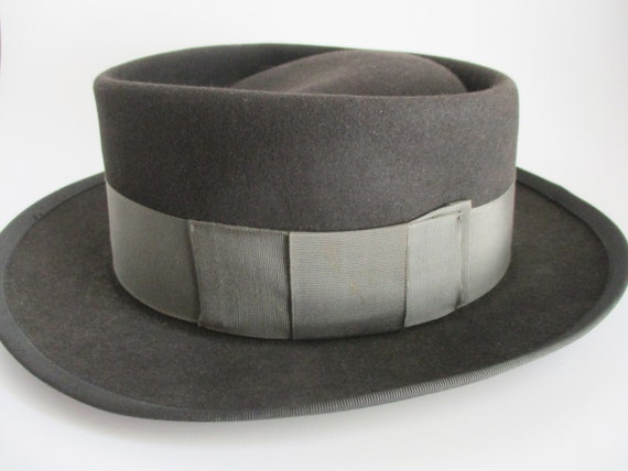Vintage Hat by Adam Men's Pork Pie Fedora Steel G… - image 2