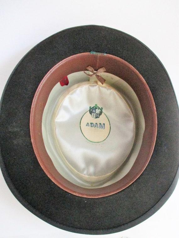Vintage Hat by Adam Men's Pork Pie Fedora Steel G… - image 5