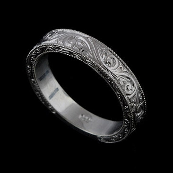 Mens Wedding Ring Engraved