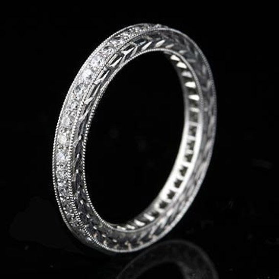 Antique Style 4 2mm Platinum Men S Wedding Band With