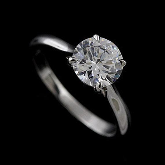 Solitar Verlobungsring 8mm Zirkonia Ring Ring Klassisch Etsy