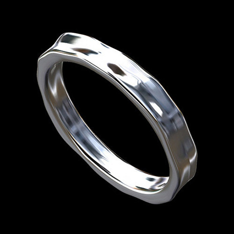 eee1b4cc6c5a Martillo anillo de boda banda de martillo de la eternidad