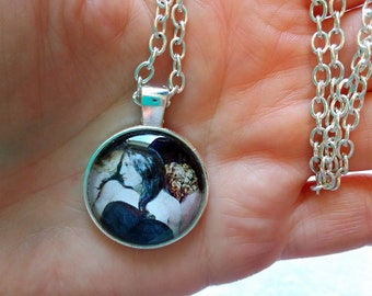 Hecate Portrait Pendant Necklace - 1inch (25mm) Glass Dome Cabochon Necklace
