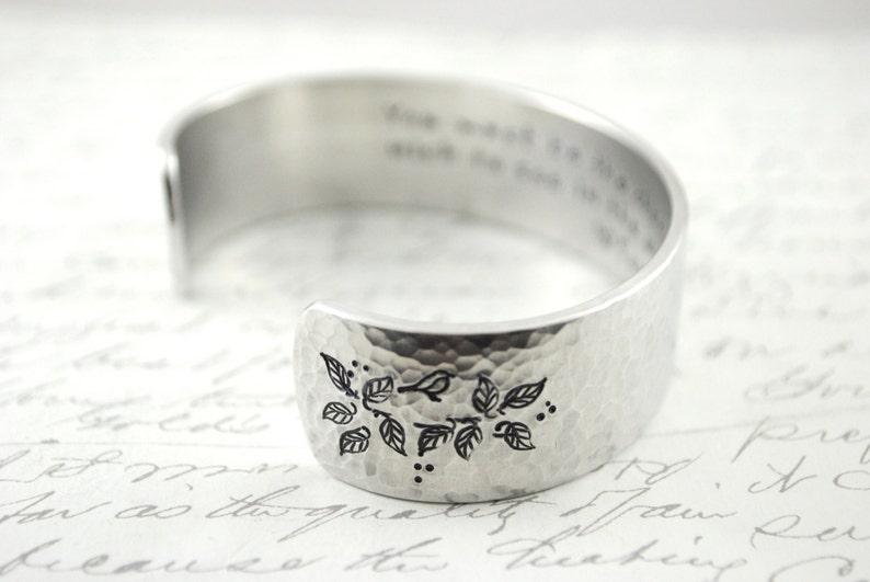 Sterling Keepsake Custom LovePoetryQuote Hand Stamped Custom Secret Message Cuff