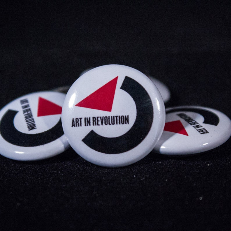 13536d40b953d Art In Revolution Back to the Future 1 Button