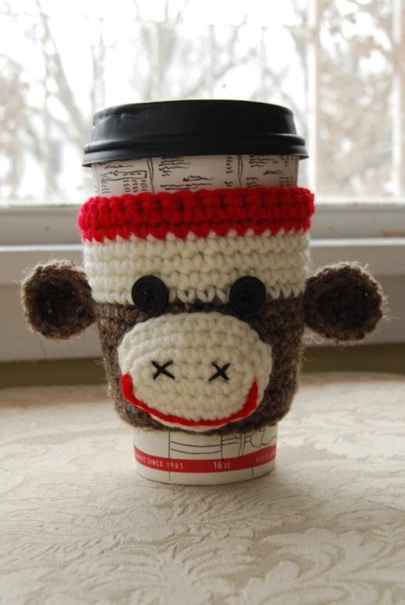 Affe Kaffee gemütlich Tier gemütlich häkeln Kaffee