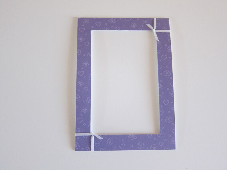 Purple Hearts Matte Frame with Hearts Decor in Hearts 5x7 Purple Matte Girls Purple Frame Purple Hearts Decor 4x6 Heart Matte