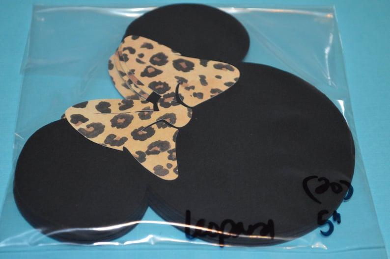 Minnie Mouse Die Cuts 5 Leopard Bows 20
