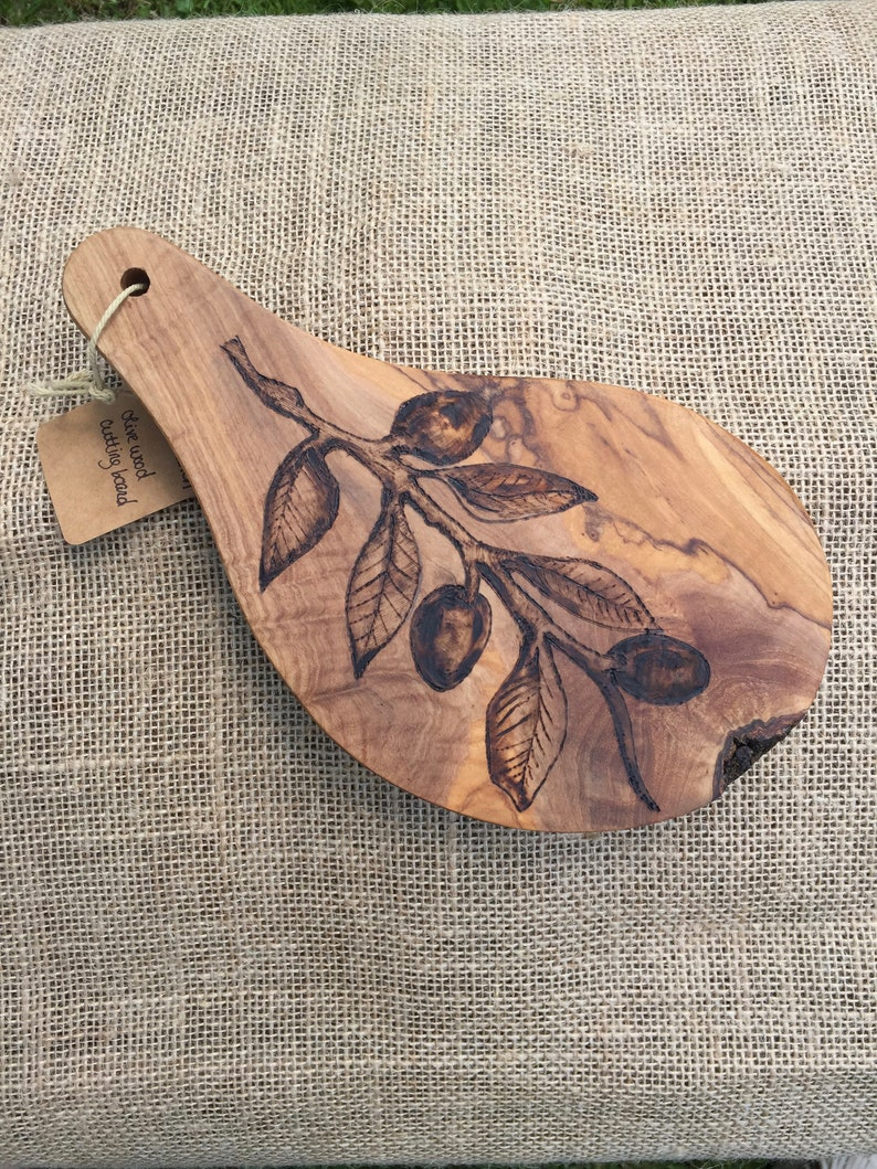 or handmade gift! Olive Cutting and Serving Board bridal shower great for hostess