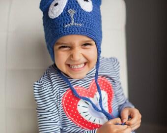 Peg + Cat Hat, Toddler Peg + Cat Hat - Toddler Hat, Winter Hat, Cat hat