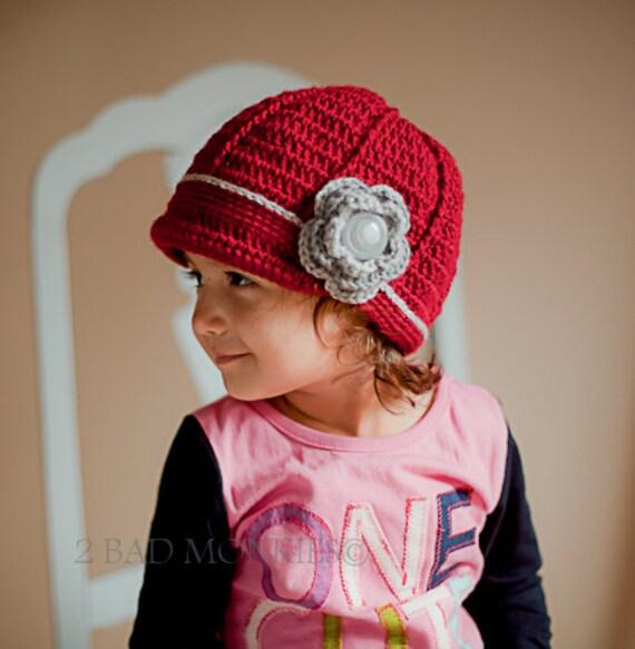 Christmas hat Toddler Winter hat newsboy hat Toddler  ee280f7d985