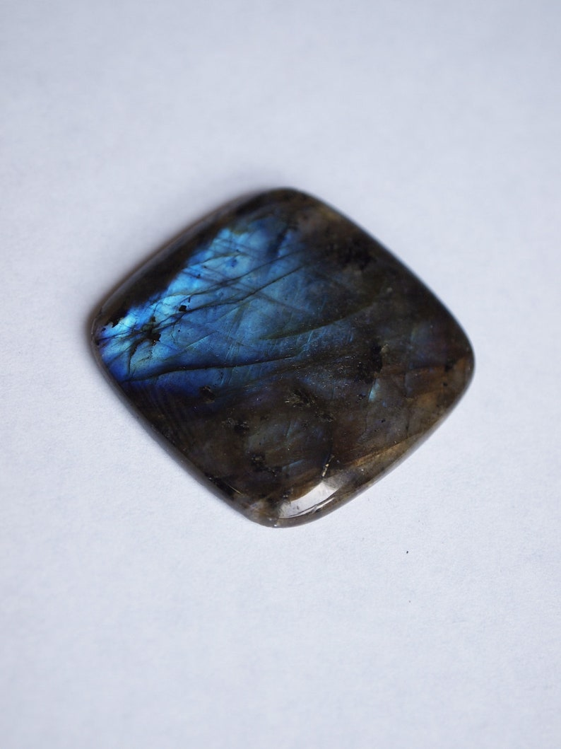Labradorite Polished Cabochon 35x35mm Square Flat Back Gemstone