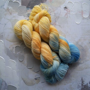 DK Sock Hand-dyed Yarn 100g 8 ply Wool Variegated Mallee Dirt Brown