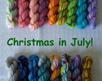 10 gram mini skein 2019 PRE-ORDER Yarn Advent Calendar Hand Dyed Yarn Mini Skein Set Mini Skein Advent Calendar christmas holiday