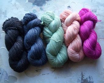 Just Blue Sparkle Sock Yarn