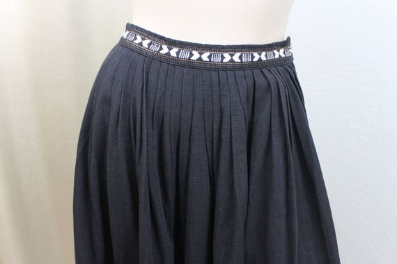 Embroidered 1950s Skirt Guatemalan Small Vintage Size Black XqwZHvxWz