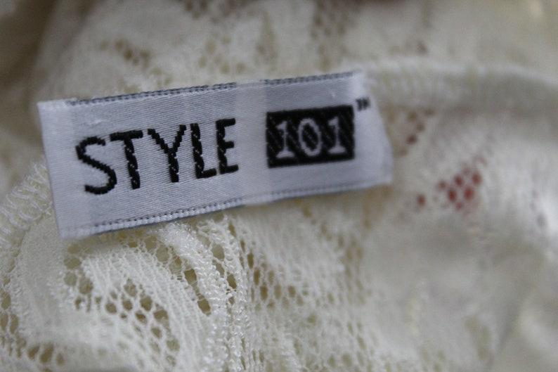 Vintage Ivory Lace Bandeau Bra Top Size Small