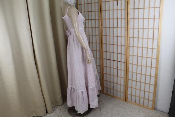 Vintage 1970's Gunne Sax Sleeveless Cotton Long D… - image 4
