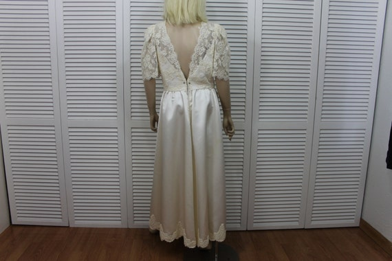 Satin Wedding Size Medium and Gown Vintage Lace dtZ6dq