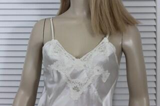 Vintage 1940s Slip White Satin Size 34Small