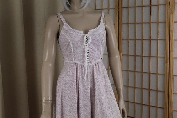 Vintage 1970's Gunne Sax Sleeveless Cotton Long D… - image 1