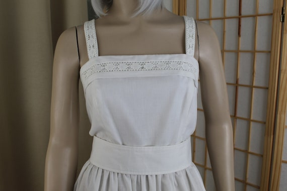 Vintage White Sun Dress Serbin by Marianne 1970's