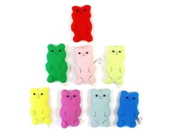 Gummy Bear toy, soft knitted plush, softie