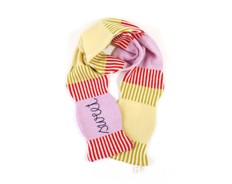 Candy Lambswool Scarf  soft knitted winter scarf fun image 0