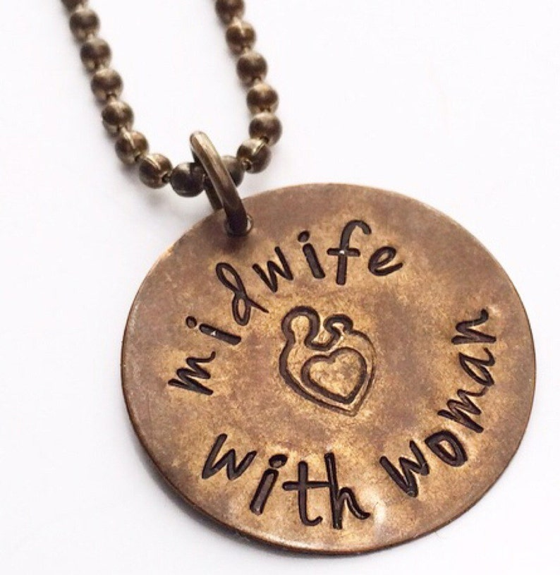 Stamped Midwife Necklace image 0