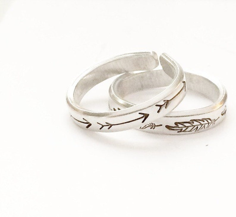 Stackable Feather Ring image 0