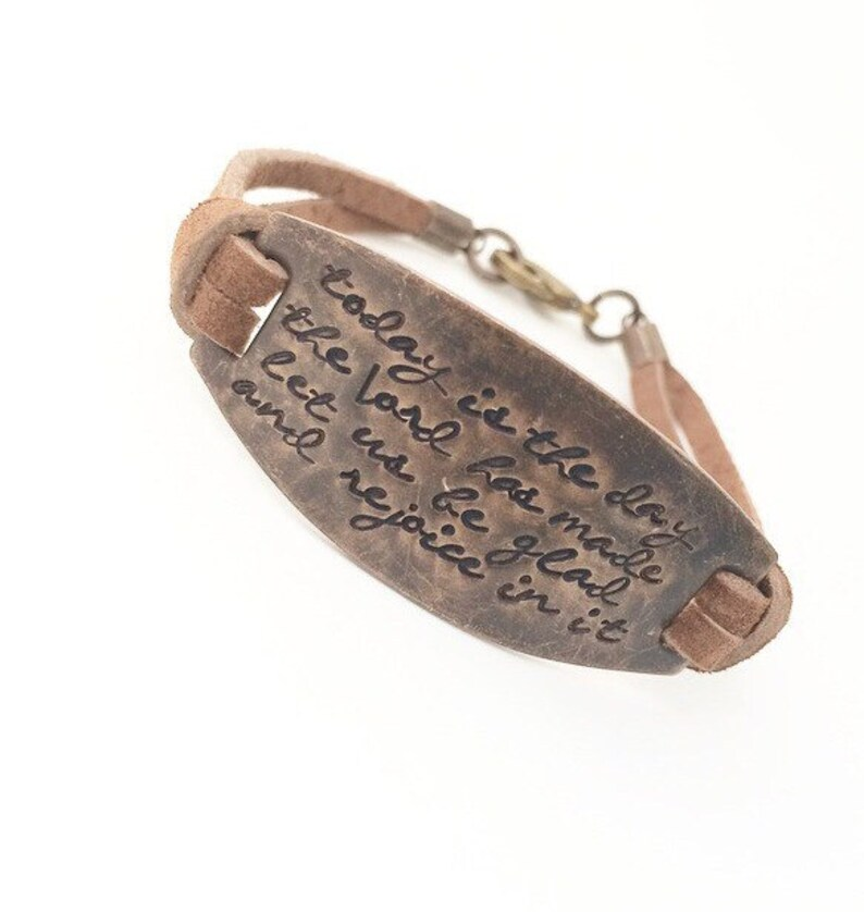 Mother's Day Bracelet. Scripture Bracelet Psalm 118:24 image 0