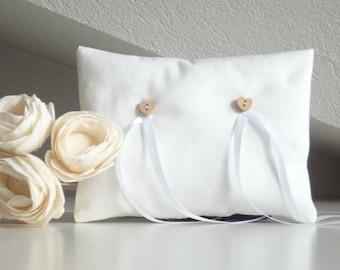 Wedding Pillow for Ring Bearer, wedding accessories, white bridal pillow, pillow ring