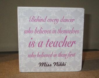 Dance teacher quotes | Etsy