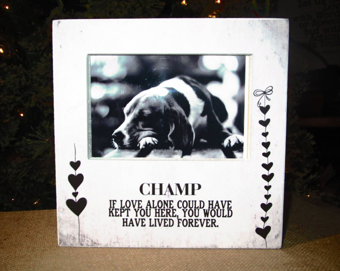 Dorable In Memory Of Dog Picture Frame Photo - Framed Art Ideas ...