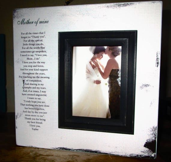 Mother of the Bride Picture Frame Gift Wedding Thank you for | Etsy
