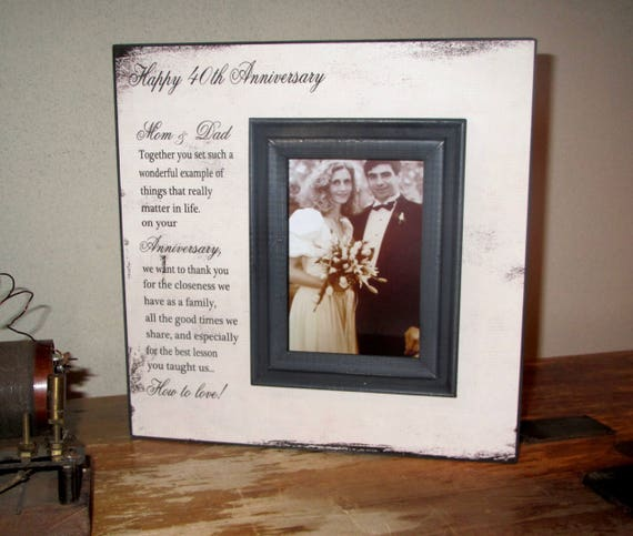 Happy Anniversary Mom Dad Together You Set Such A Wonderful Etsy