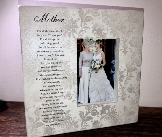 Mother Of The Bride Picture Frame Personalized Gift Wedding Etsy