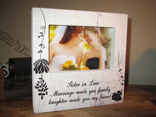 Wedding Sister In Law Frame Gift Idea Birthday