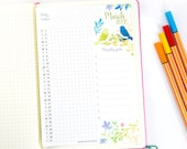 2019 Task Tracker Printable, Watercolor Design, Monthly Goal Tracker, Daily Task List, Bullet Journal & Planners, BUJO, INSTANT DOWNLOAD