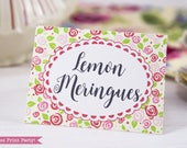 Tea Party Place Cards Pri...