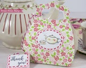 Tea Party Purse Favor Box...
