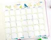 2019 Calendar Printable, Watercolor Design, Monthly Calendar, Bullet Journal Calendar & Planners, BUJO, INSTANT DOWNLOAD