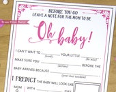 Baby Shower Mad Libs Advi...