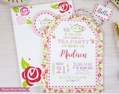 Tea Party birthday Invita...
