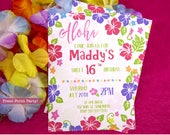 Hawaiian Invitations Prin...
